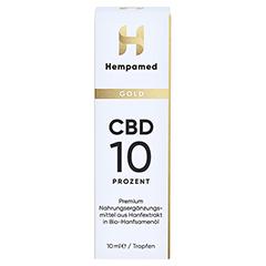 HEMPAMED Gold CBD Öl 10% 1000 mg Tropf.z.Einnehmen 10 Milliliter - Vorderseite