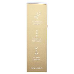 HEMPAMED Gold CBD Öl 5% 500 mg Tropfen z.Einnehmen 10 Milliliter - Linke Seite