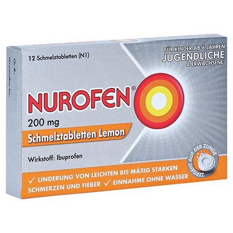 Nurofen 200 mg Schmelztabletten Lemon 12 Stück N1