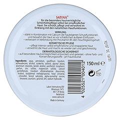 Satina Creme 150 Milliliter - Rückseite