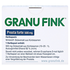 GRANU FINK Prosta forte 500mg 140 Stück - Rückseite