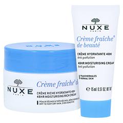 NUXE Creme fraiche de beaute Reichhaltige 48h Feuchtigkeitscreme + gratis NUXE Creme Fraiche de Beaute (15ml) 50 Milliliter