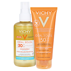 Vichy Ideal Soleil Sonnenspray mit Hyaluron LSF 30 + gratis VICHY Idéal Soleil SPF 50 - 100 ml 200 Milliliter