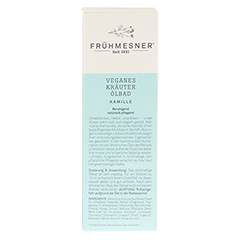 FRÜHMESNER veganes Kräuter Ölbad Kamille 100 Milliliter - Rückseite