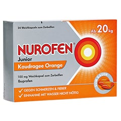 Nurofen Junior Kaudragees Orange 24 Stück