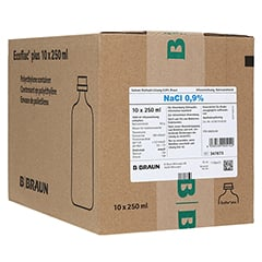 ISOTONE Kochsalz-Lösung 0,9% Braun Ecoflac Plus 10x250 Milliliter N2
