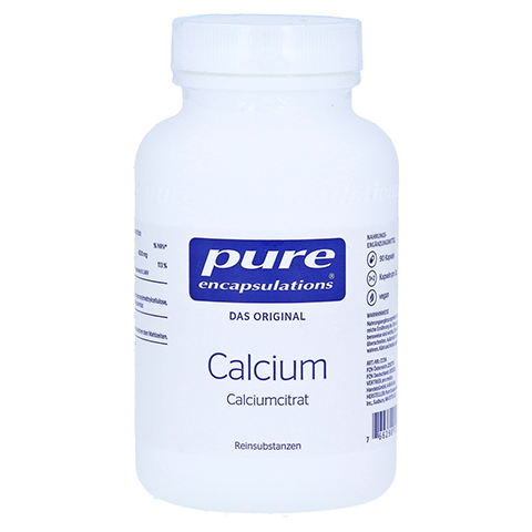 PURE ENCAPSULATIONS Calcium Calciumcitrat Kapseln 90 Stück