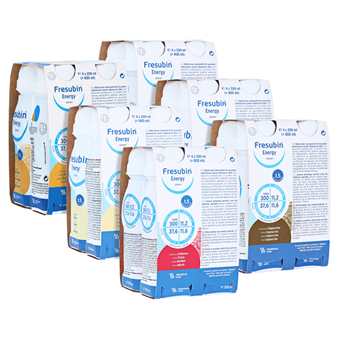 FRESUBIN ENERGY DRINK Mischkarton Trinkflasche 6x4x200 Milliliter