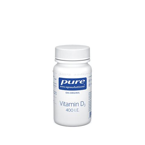 PURE ENCAPSULATIONS Vitamin D3 400 I.E. Kapseln 60 Stück