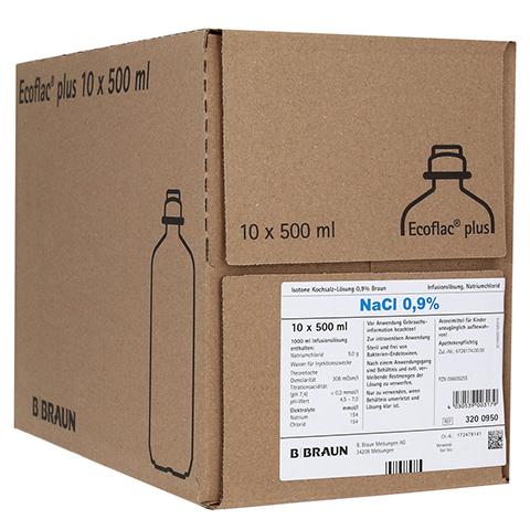 ISOTONE Kochsalz-Lösung 0,9% Braun Ecoflac Plus 10x500 Milliliter N2