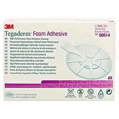 TEGADERM Foam Adhesive 7x7,6 cm oval 90614 10 Stück - Vorderseite