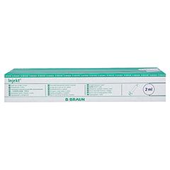 INJEKT Solo Spritze 2 ml Luer zentrisch PVC-fr. 100x2 Milliliter - Vorderseite
