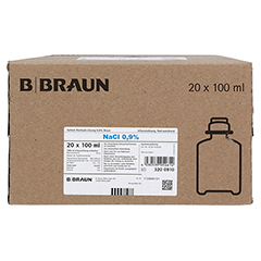 ISOTONE Kochsalz-Lösung 0,9% Braun Ecoflac Plus 20x100 Milliliter N3 - Vorderseite