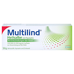 Multilind Heilsalbe mit Nystatin 50 Gramm N2 - Vorderseite