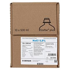 ISOTONE Kochsalz-Lösung 0,9% Braun Ecoflac Plus 10x500 Milliliter N2 - Vorderseite