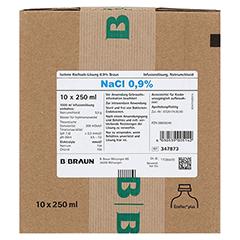 ISOTONE Kochsalz-Lösung 0,9% Braun Ecoflac Plus 10x250 Milliliter N2 - Vorderseite