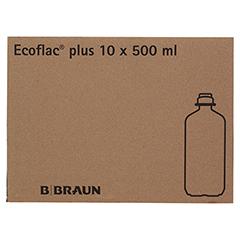ISOTONE Kochsalz-Lösung 0,9% Braun Ecoflac Plus 10x500 Milliliter N2 - Linke Seite