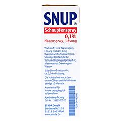 Snup Schnupfenspray 0,1% 15 Milliliter N2 - Rechte Seite