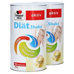 DOPPELHERZ Diät Shake Vanille Pulver + gratis Doppelherz Diät Shake Vanille 500 g 500 Gramm