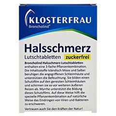 KLOSTERFRAU Broncholind Halsschmerz Lutschtabl.zf. 24 Stück - Rückseite