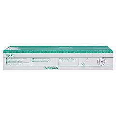 INJEKT Solo Spritze 2 ml Luer zentrisch PVC-fr. 100x2 Milliliter - Rückseite