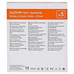 ALLEVYN Heel Schaumstoff Fersenverb.10,5x13,5 cm 5 Stück - Rückseite