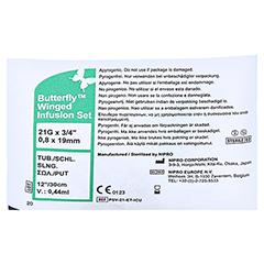 BUTTERFLY Kanüle 21 G grün 1 Stück - Rückseite