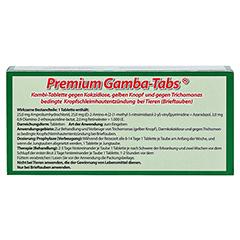 PREMIUM GAMBA-TABS f.Brieftauben 30 Stück - Rückseite