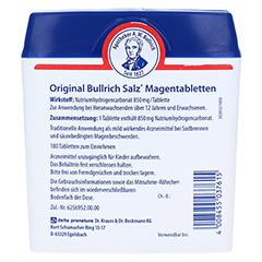 Bullrich-Salz Magentabletten 180 Stück - Rückseite