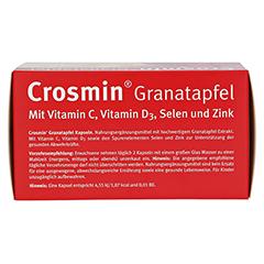 CROSMIN Granatapfel Kapseln 120 Stück - Oberseite