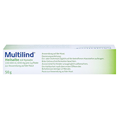 Multilind Heilsalbe mit Nystatin 50 Gramm N2 - Oberseite