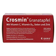 CROSMIN Granatapfel Kapseln 120 Stück - Unterseite