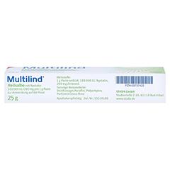 Multilind Heilsalbe mit Nystatin 25 Gramm N1 - Unterseite