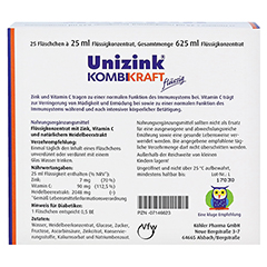 UNIZINK Kombikraft 25x25 Milliliter - Rückseite