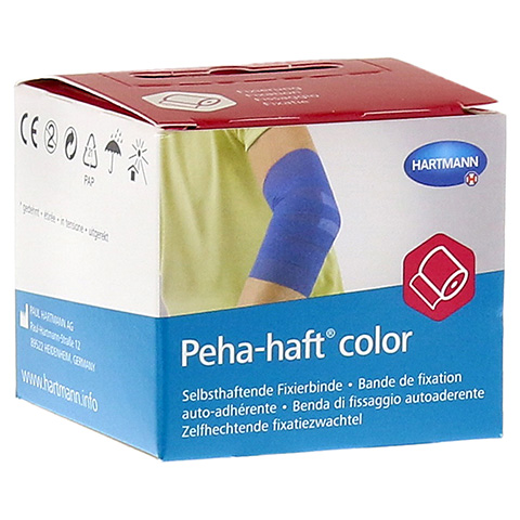 PEHA-HAFT Color Fixierbinde latexf.4 cmx4 m blau 1 Stück