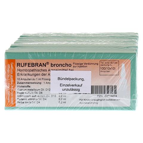 RUFEBRAN broncho Ampullen 100 Stück N3