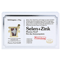 SELEN+ZINK Pharma Nord Dragees 180 Stück - Vorderseite