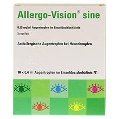 Allergo-Vision sine 0,25mg/ml Augentropfen 10x0.4 Milliliter N1 - Vorderseite