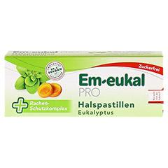 EM EUKAL PRO Halspastillen Eukalyptus zuckerfrei 30 Stück - Vorderseite