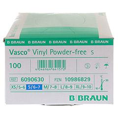 VASCO Vinyl powderfree Handschuhe unsteril Gr.S 100 Stück - Linke Seite