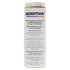 ADDITIVA Magnesium 300 mg Sticks Orange N 20 Stück - Rechte Seite