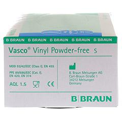 VASCO Vinyl powderfree Handschuhe unsteril Gr.S 100 Stück - Rechte Seite