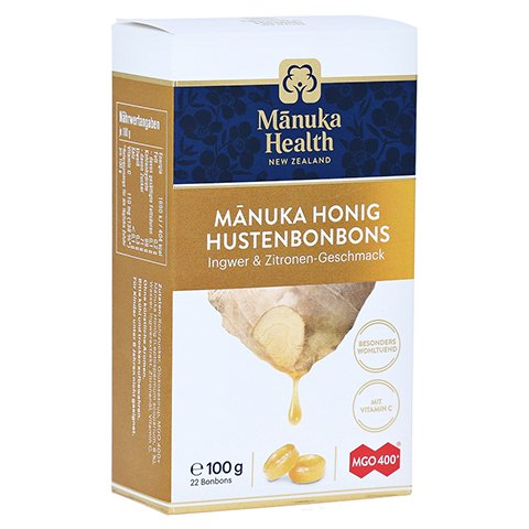 MANUKA HEALTH MGO 400+ Lutschbonb.Ingwer-Zitrone 100 Gramm