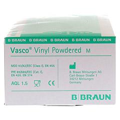 VASCO Vinyl powdered Handschuhe unsteril Gr.M 100 Stück - Rechte Seite