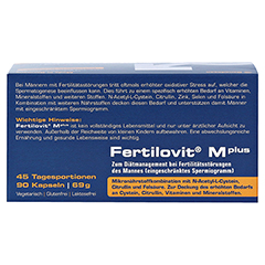 FERTILOVIT M plus Kapseln 90 Stück - Unterseite