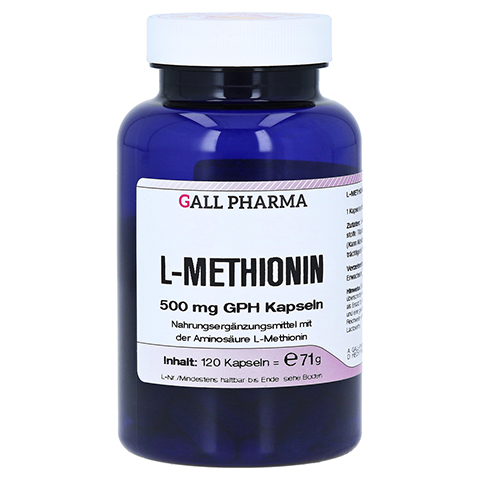 L-METHIONIN 500 mg GPH Kapseln 120 Stück