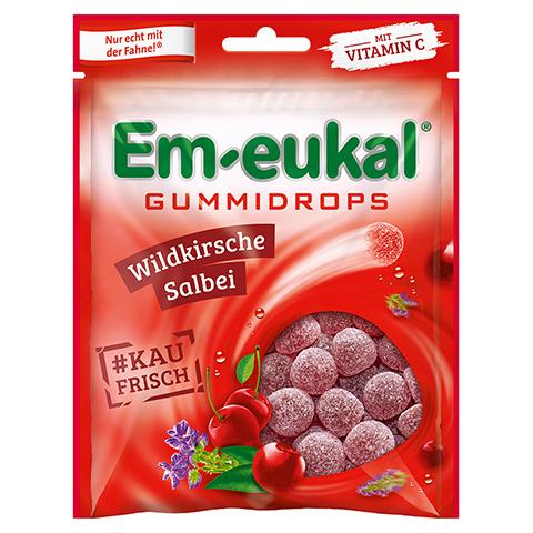 EM EUKAL Gummidrops Wildkirsche-Salbei zuckerhalt. 90 Gramm