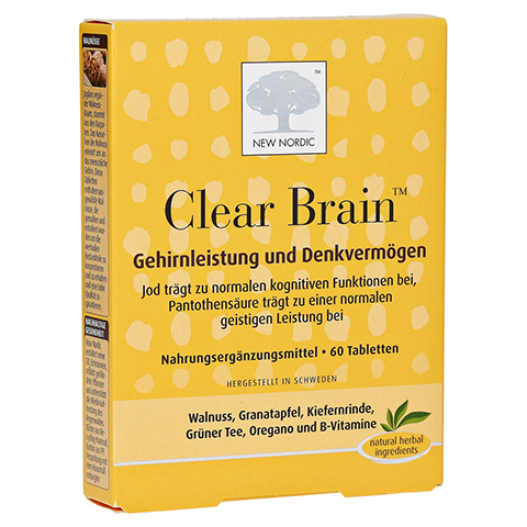 CLEAR BRAIN Tabletten 60 Stück