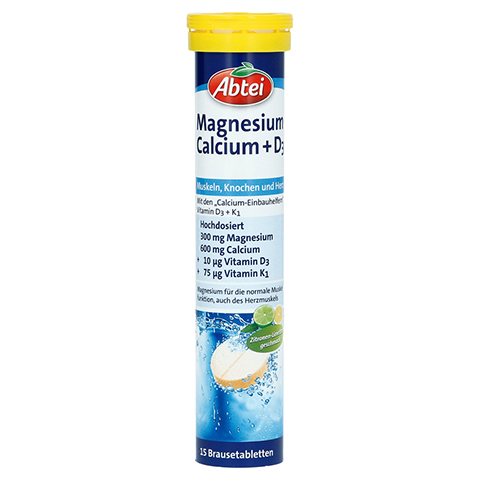 ABTEI Magnesium Calcium + D3 [Brause] 15 Stück