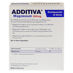 ADDITIVA Magnesium 300 mg Sticks Orange N 20 Stück - Rückseite